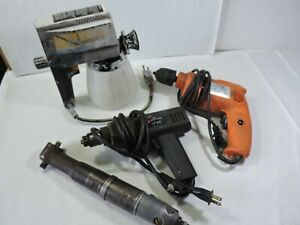 Lot Of 2 Drills Rockwell 3 8 Air Ratchet Wagner Power Painter