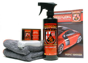 Auto Detailing Clay Lubricant Combo Kit Wolfgang Car Care Wg 9000cmb