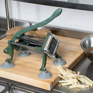 Choice 1 4 Countertop Cast Iron Manual French Fry Cutter With Suction Feet