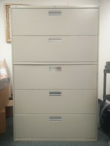 Hon Company 600 Series Five drawer Lateral File Letter legal a4 42w X19 1 4d