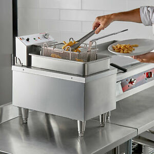 15 Lb Heavy duty Commercial Electric Countertop Fryer 208 240v 4200 5500w