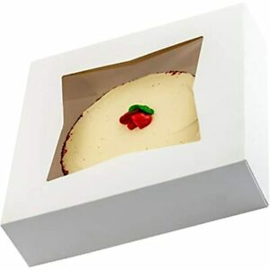 Gourmet 10in White Bakery Boxes 25 Pk Cute Window Displays Pies Cakes And Use