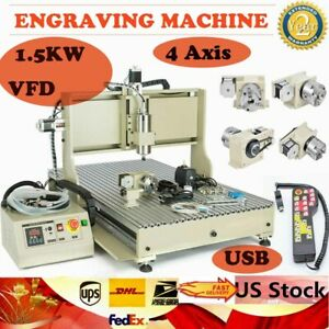 Usb 4 Axis Cnc 6090 Router 1 5kw Engraver Machine Milling Drilling Controller