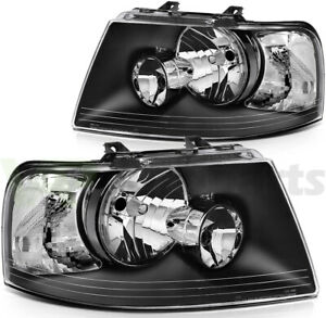 Headlights Fits 2003 2006 Ford Expedition Replacement Light Left Right Sides