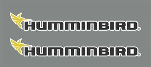 2x HUMMINBIRD Decals Stickers Fishing Fish Finder GPS Bass Pike Equipment 10''