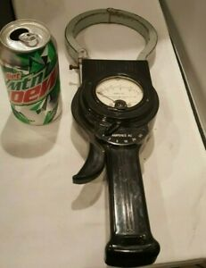 Antique Western Electro Electric Ac Amp Clamp Meter Steampunk Nice Display