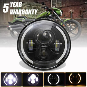 7 Round Led Motorcycle Headlight Left Turn Signal Right Turn Signal For Harley