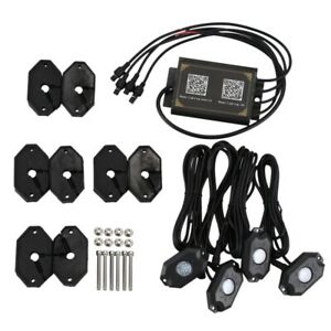 20x rgb Led Rock Light Wireless Bluetooth Music Offroad Ambient Light Truck K6m8