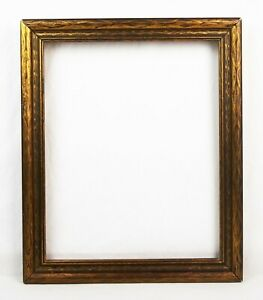 Antique 1920 S Picture Frame Baroque Gold Floral Pressed Wood Fits 15x12