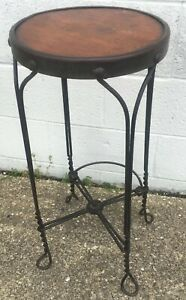 Vintage Twisted Metal Wire Ice Cream Parlor Stool Soda Fountain Bar Stool