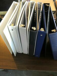 Lot Of 10 3 Ring Binders 2 Inch Rings Mixed Colors Colors Will Vary