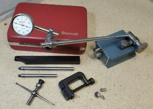 Starrett No 196 Indicator Set With A Brown And Sharpe No 7743 Magnetic Base