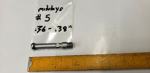 Mitutoyo 5 Anvil 36 To 38 For 526 122 Small Hole Bore Gage