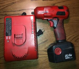 Snap On 3 8 Inch Drive Cordless Impact 14 4v Charger 1 Battery