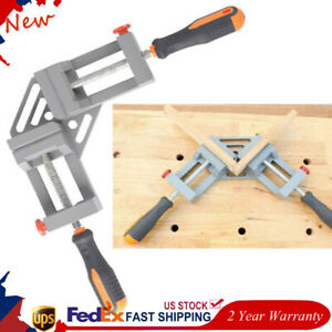 90 Right Angle Miter Corner Clamp Woodworking Picture Frame Jig 2 handle Holder