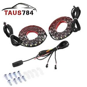 2x Universal 60 6000k White 5050 Smd 90 Led Waterproof Car Truck Light Strip