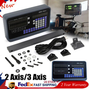 2 3 Axis Digital Readout Kit Dro Display Linear Glass Scale For Milling Lathe Us