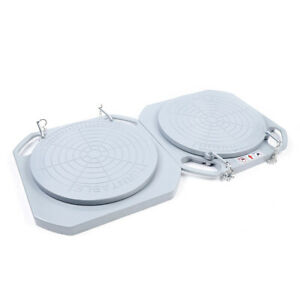 Pair Magnesium Alloy Turntable Wheel Alignment 360 Rotating Turn Plate Table