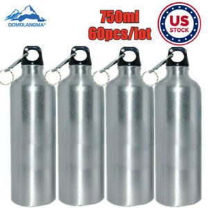 Us Stock 60pc Silver 750ml Blank Aluminum Sports Bottle For Sublimation Printing