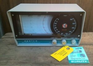 VINTAGE APELCO MR-201 CHART RECORDING DEPTH SOUNDER INDICATOR - FISH FINDER