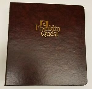 Franklin Covey Lot Of Classic Size Planner Pages Filler Blank Storage Binder
