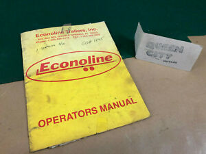 Econoline 6 And 9 Ton Equipment Trailer Owners Manual parts Catalogs