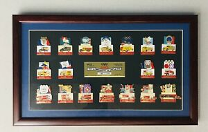 Vintage Coca-Cola Olympics Delivery Truck/Vehicle (1924-1998) LE Framed Pin Set