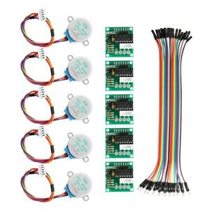 5x 5pcs 5v Stepper Motor With Uln2003 Driver Board Dupont Cable For Arduino S7v1