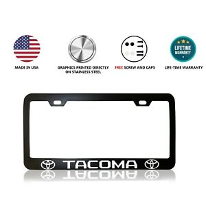 Toyota Tacoma Stainless Steel Black License Plate Frame