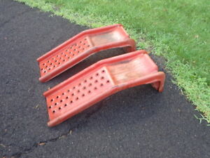 Auto Car Ramps Light Truck Solid Steel 1 Ton 6500 Lbs Pair Set Pick Up Only