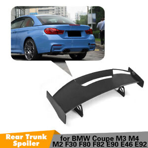 Universal Sedan Car Rear Trunk Spoiler Lid Wing Carbon Fiber Adjustable Deck