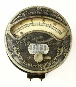 Antique Weston Voltmeter Late 19th Century Scarce 0 150 V