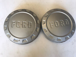 2 1961 66 Ford 3 4 Ton F250 Pickup Truck Painted Dog Dish Hubcaps Bottle Cap