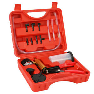 Hand Held Car Vacuum Pressure Pump Tester Brake Bleeder Bleeding Tool Kit Z9o2