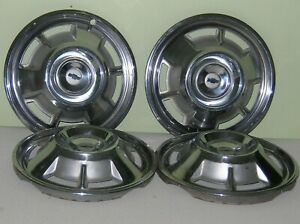 Lot Of 4 1960 S 14 Inch Vintage Chevy Gm Bowtie Car Truck Hubcap Nice