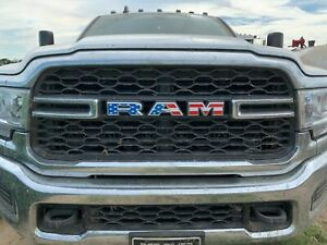 Fits New 2019 3500 Only Dodge ram Usa Flag Grill Emblem Overlay Decals 2020 21