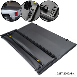 Fit 16 18 Toyota Tacoma Lock Tri Fold Black Tonneau Cover 5ft Short Bed New
