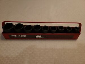 Mac Tools Svp96tr 9pc 1 2 Dr Sae Shallow Impact Socket Set In Metal Tray New