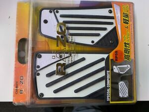 Carmate Pedal Set For Vehicles Razo Rp58 Pearl White blk Made In Japan