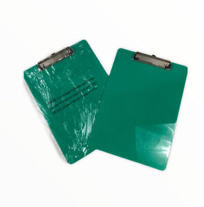 Officemate Plastic Clipboard Letter Size Green Lot Of 2