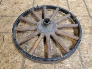 Original Canadian Ford Model T Front Wooden Wheel Amazing Condition
