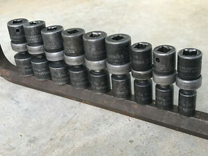 Snap On 1 2 Drive Ipl 9 Piece Impact Swivel Socket Set 6 Point 1 2 1
