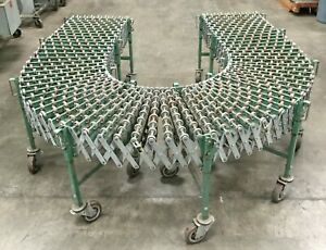 After Sort Expandable Flexible Skate Conveyor 12 l X 24 w X 24 Extended lot 2