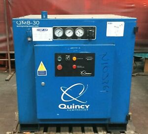 Quincy Industrial Rotary Screw Air Compressor Model Qmb 30