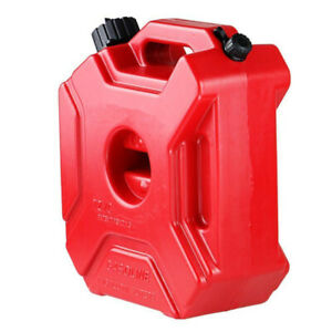 5l Portable Fuel Tank Plastic Jerry Can Diesel Motorcycle Gas Spare Container Us