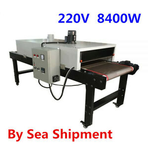 220v 8400w Conveyor Tunnel Dryer 9 8ft Long X 25 6 Belt For Screen Printing