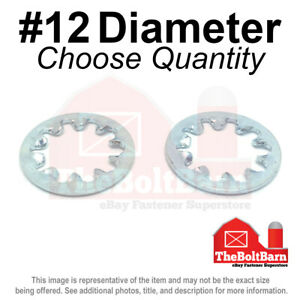 12 Internal Tooth Star Lock Washer Low Carbon Steel Zinc Plated pick Quantity