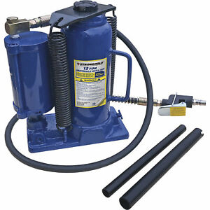 Stronghold 12 Ton Air Hydraulic Bottle Jack Model Th412009q