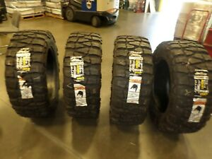 Used Set Of Nitto Mud Grappler 37x1350r22lt 123q Lre Blackwall Tires