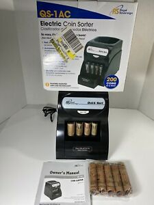 Royal Sovereign Qs 1ac Electric Anti jam Coin Sorter Quick Sort Manuals Tested